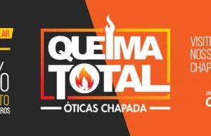 074508ead2ad1 Queima Total da linha solar nas Óticas Chapada